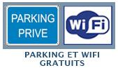 Parking privé et WIFI gratuits